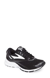 Brooks Women's Launch 4 Running Shoe Black White Silver