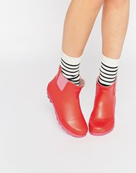 Call It Spring Henrion Red Wellington Ankle Boots Red