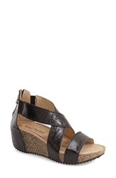 Women's Josef Seibel 'Meike 05' Wedge Sandal Black Leather