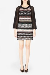 Missoni Women S Bell Sleeve Knitted Dress Boutique1 Black