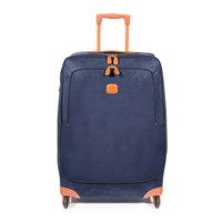 Bric's Life Carry On Trolley Suitcase Blue Tan 74Cm