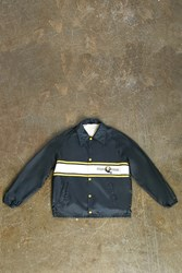 Forever 21 Vintage Steelers Coach Jacket Black Yellow