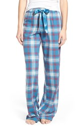 Bp. Undercover Junior Women's Bp. Plaid Lounge Pants Teal Steel Lawny Tartan