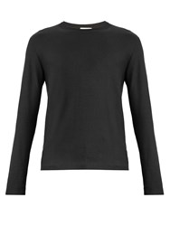 Christophe Lemaire Long Sleeved Cotton Blend Sweater Grey