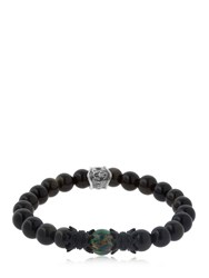Cantini Mc Firenze Crown Labradorite Beaded Bracelet Black