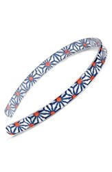 France Luxe 'Ultra Comfort' Headband Blue Kaleidoscope Daisy Navy Mult