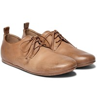 Marsell Burnished Leather Derby Shoes Tan