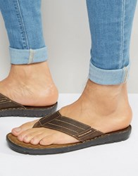 Red Tape Toe Post Sandals Brown