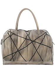 Numero 10 Large Textured Tote Bag Grey