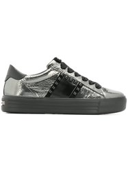 Kennel Schmenger And Studded Lace Up Sneakers Metallic