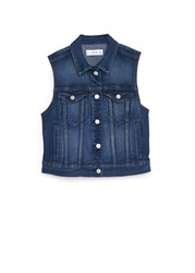 Mango Dark Denim Gilet Blue