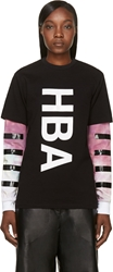 Hood By Air Black Double Layered T Shirt