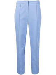 Escada Slim Fit Trousers Blue