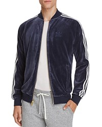 Adidas Originals Velour Zip Track Jacket Navy