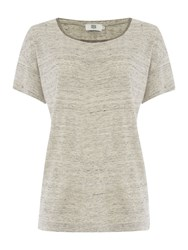 Noa Noa Short Sleeve T Shirt Grey