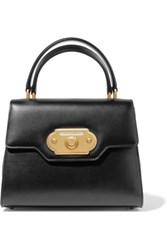 Dolce And Gabbana Welcome Medium Leather Tote Black