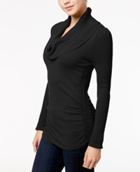 It's Our Time Juniors' Cowl Neck Sweater Black