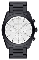 Emporio Armani Chronograph Ceramic Bracelet Watch 43Mm Regular Retail Price 595.00 Black
