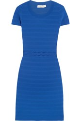 Michael Michael Kors Ribbed Stretch Jersey Dress Blue