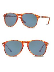 Persol 55Mm Round Sunglasses Red Tortoise