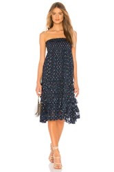 Rebecca Taylor Speckled Dot Convertible Skirt Blue