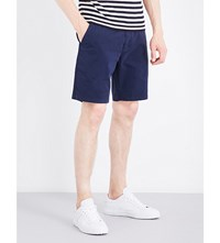 Paul Smith Regular Fit Mid Rise Stretch Cotton Shorts Navy