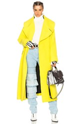 Marques ' Almeida Brushed Wool Oversize Coat In Yellow