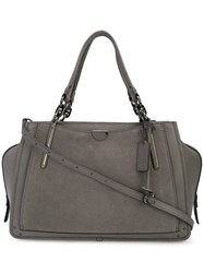 Coach 32316 Dkhgr Leather Fur Exotic Skins Leather Grey