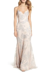 Hayley Paige Occasions Women's Metallic Tulle Gown