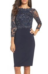 Tadashi Shoji Women's Lace And Neoprene Sheath Dress