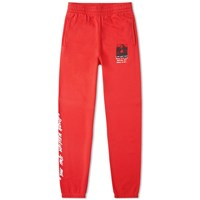 Off White Mona Lisa Slim Sweat Pant Red