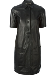 Burberry Leather Shirt Dress
