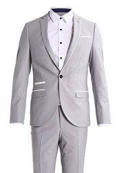 Noose And Monkey Everton Suit Light Grey