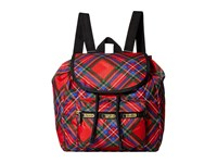 Le Sport Sac Small Edie Backpack Cozy Plaid Red Backpack Bags