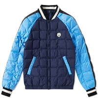Kenzo Quilted Bomber Jacket Blue