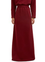 Vetements Long Printed Jersey Maxi Skirt Red