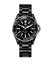 Tag Heuer Aquaracer Stainless Steel And Black Ceramic Diver Watch Way1390. Bh071
