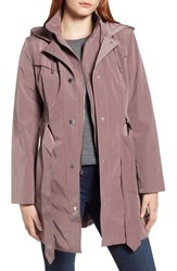 London Fog Hooded Trench Coat Adobe