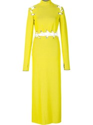 Proenza Schouler Lace Up Panelled Dress Yellow And Orange