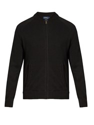Polo Ralph Lauren Zip Through Cashmere Sweater Black