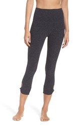Beyond Yoga Women's Twist And Shout High Waist Capris Black Steel