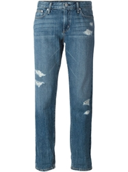Theory Distressed Boyfriend Jeans