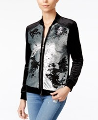 Fair Child Sequined Velour Jacket Black