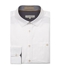 Ted Baker Taccle Contrast Cuff Collar Shirt Male White