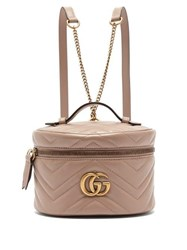 Gucci Gg Marmont Mini Leather Backpack Nude