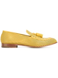 Fratelli Rossetti Perforated Slippers Women Leather 39 Yellow Orange