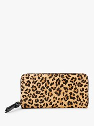 Hush Forli Leopard Print Zip Around Leather Purse Multi