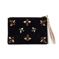 Angela Valentine Handbags Black Bee Clutch