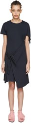 J.W.Anderson Navy Single Knot T Shirt Dress
