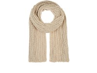 Barneys New York Women's Oversized Cable Knit Scarf Cream